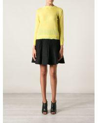 Philosophy di Alberta Ferretti Rear Button Sweater - Lyst