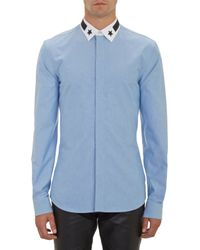 Givenchy Star Appliqué-Collar Shirt - Lyst