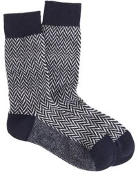 J.Crew Anonymous Ism Wool Herringbone Socks - Lyst