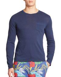Polo Ralph Lauren Gauze Jersey Shirt blue - Lyst