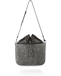 Alexander Wang Distressed Flat Bucket Bag in Erosion - Lyst