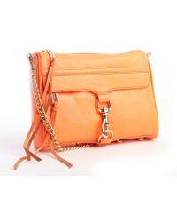 Rebecca Minkoff Neon Orange Leather Mac Convertible Clutch - Lyst