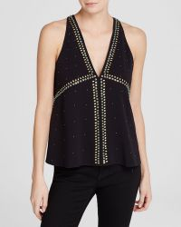 Rachel Zoe Top - Shana Sleeveless Embellished Swing - Lyst