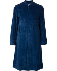 Dosa Blue Long Coat - Lyst