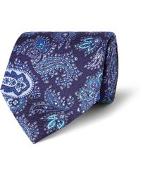 Etro Paisley-print Silk Tie - Lyst