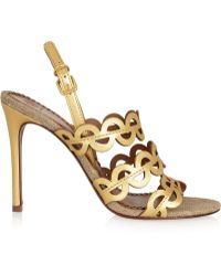 Tory Burch Ginny Leather Sandals - Lyst