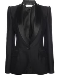 Alexander McQueen Shawl Collar Kick Back Jacket - Lyst