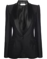Alexander McQueen Shawl Collar Kick Back Jacket - Lyst