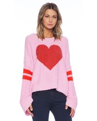 Wildfox Brave Heart Pullover - Lyst