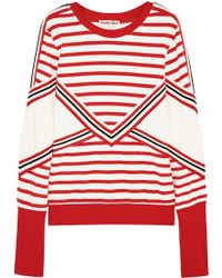 See By Chloé Striped Stretch-cotton Jersey Sweatshirt - Lyst