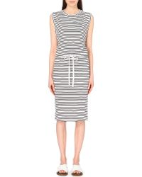 Theory Caniel Classic Striped Cotton T-Shirt Dress - For Women - Lyst