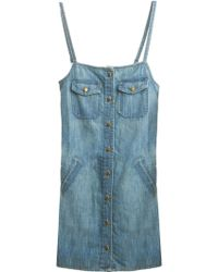 Current/Elliott Perfect Strappy Dress blue - Lyst