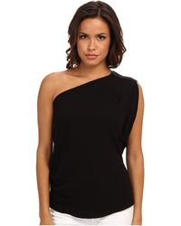 BCBGMAXAZRIA Carli Sleeveless One Shoulder Top - Lyst