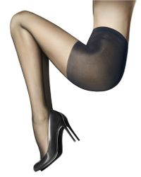 Wolford Individual Semi-Sheer Tights With Control Top - Lyst