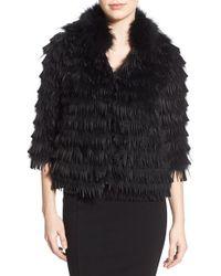 Tasha Tarno - Genuine Silver Fox Fur Fringe Jacket - Lyst