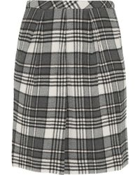 See By Chloé Checked Stretchseersucker Skirt - Lyst