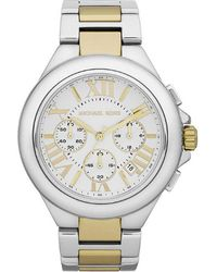 Michael Kors Camille Twotone Chronograph Womens Watch - Lyst