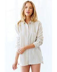 BDG Linen Button-Down Shirt - Lyst