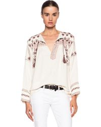 Etoile Isabel Marant Vicky Andes Cotton Top - Lyst
