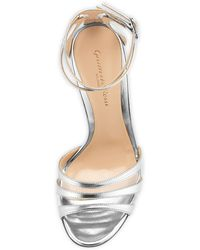 Gianvito Rossi Mirrored Ankle-Wrap Sandal - Lyst