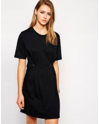 Cheap Monday Short Sleeve Dress with Fold Waist - Lyst