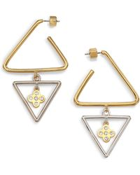 Marc By Marc Jacobs Marjorie Crystal Triangle Drop Earrings gold - Lyst