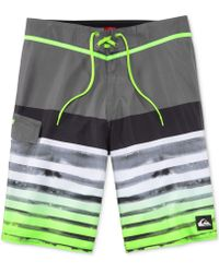 Quiksilver Crashers Striped Boardshorts - Lyst