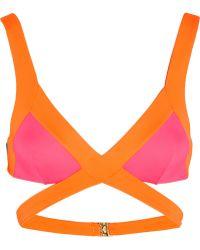 Agent Provocateur Mazzy Popstar Triangle Bikini Top - Lyst