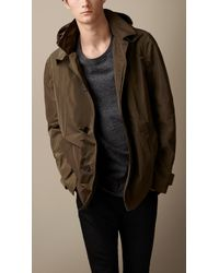 Burberry Technical Fabric Jacket with Detachable Hood - Lyst
