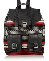 Proenza Schouler Ps1 Jacquard and Leather Backpack - Lyst