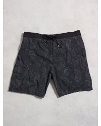John Varvatos Cargo Swim Trunks - Lyst