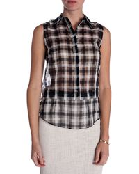 A.L.C. Kelly Plaid Top - Lyst