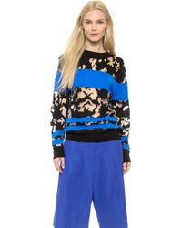 Alexander Wang Tie Dye Burnout Pullover - Egyptian Blue - Lyst