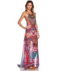Camilla Sheer Overlay Dress - Lyst