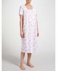 John Lewis - Rose Print Dobby Nightdress - Lyst