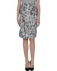Jil Sander Knee Length Skirt white - Lyst