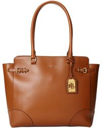 Lauren by Ralph Lauren Lauren Zip Top Tote - Lyst