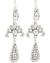 Jose & Maria Barrera | Silvertone Deco Crystal Dangle Earrings | Lyst