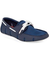 Swims Blue Rubber Loafers - Lyst