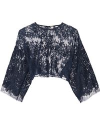 Adam Lippes Cropped Cotton-blend Lace Top - Lyst