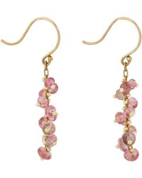 Ten Thousand Things - Pink Sapphire & Gold Short Spiral Drop Earrings - Lyst