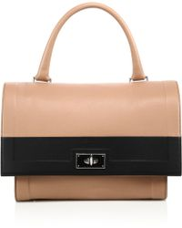Givenchy | Shark Small Two-tone Leather Satchel | Lyst