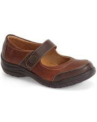 Softspots | Acinda Leather Mary-Jane Flats | Lyst