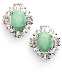 Samantha Wills - 'summer Solstice' Stud Earrings - Jade/ Silver - Lyst
