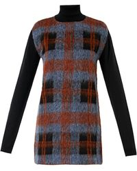 McQ by Alexander McQueen Check Woolblend Knitted Dress - Lyst