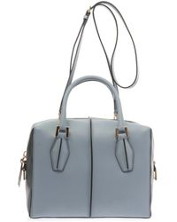 Tod's Dcube Small Leather Bowler Tote - Lyst
