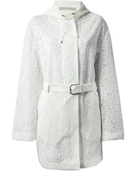 Ermanno Scervino Perforated Parka - Lyst