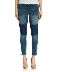 DKNY Avenue B Patched Jeans - Lyst