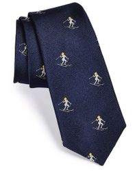Rag & Bone Men'S 'Ski Bunny' Silk Tie - Blue - Lyst