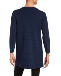Anne Klein | Paneled Open Front Cardigan | Lyst